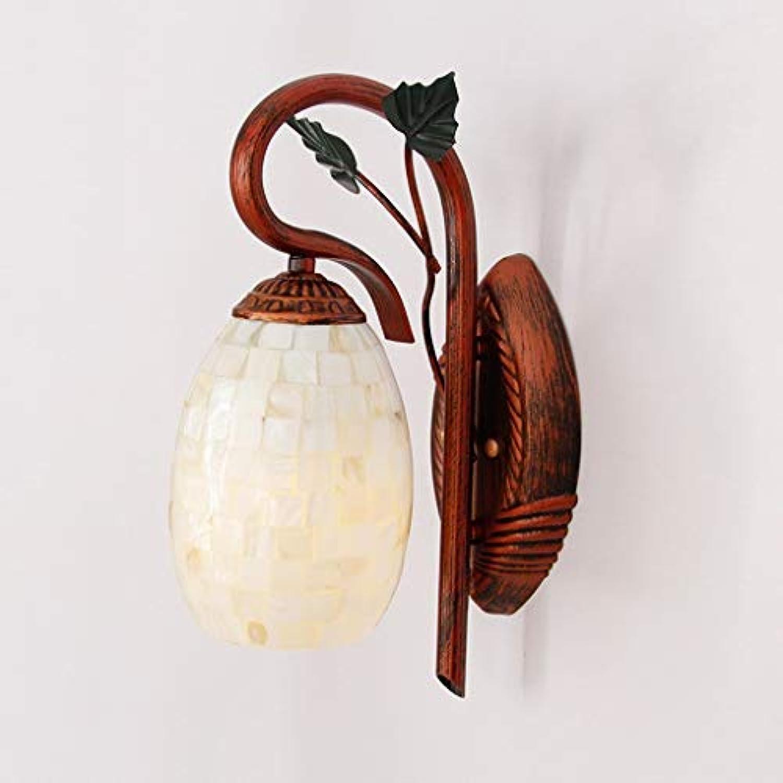 MJY Mode Sache angewendet in der Nachtwandleuchte Haus Lounge Eisenglas Wandleuchte Glühlampe der Strae des Eingangs Kunst Wandleuchte Persnlichkeit, B