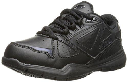 Fila Side-By-Side Cross Training Shoe (Little Kid/Big Kid), Black/Black/Black, 6 M US Big Kid