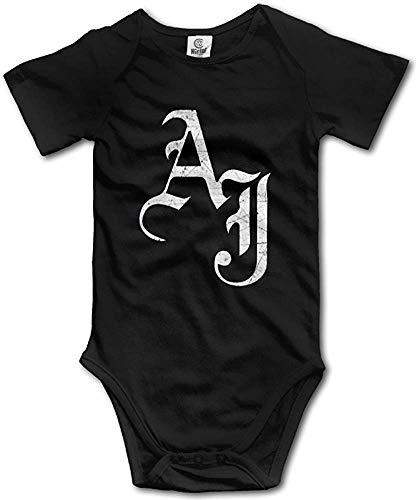 Schwarz AJ Styles WWE lustige Kleinkind Kurzarm Nursling Baby Onesie