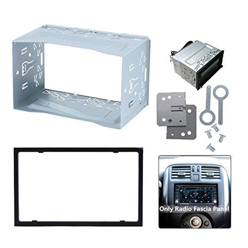 GF 2 DIN DVD Player Frame Placa de Montaje Unidad 2 DIN Cage Radio Estuche de vehículo Radio de automóvil Reproductor de DVD Montaje Accesorio