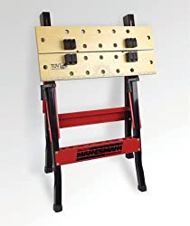 Folding workbench Work surface free of distortion MDF Tool tray in the cross brace Maximum load capacity 100 kg Working height of approximately 790 mm