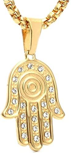 NC198 Collar Colgante de bergamota de Acero de Titanio Europeo y Americano Regalo de Moda Collar de Navidad Accesorios de Acero Inoxidable