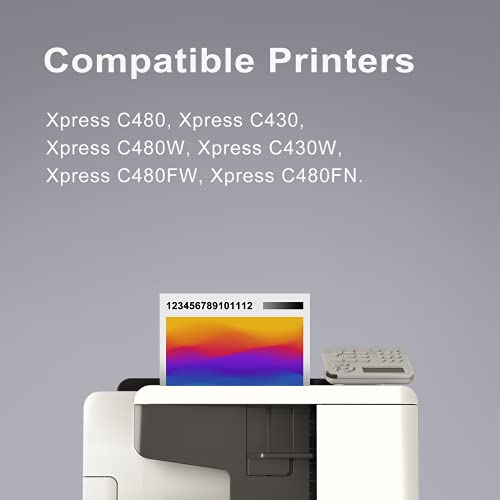 PINALL 4 Tóner compatible con Samsung CLT-P404C para impresora Samsung Xpress C480FW C480W C480 C480FN C430 C430W (negro/cian/magenta/amarillo)