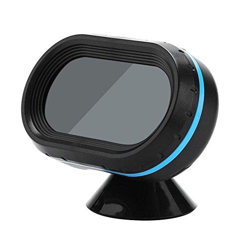 Akozon Reloj LCD multifunción para coche con pantalla LED de 12V Monitor de alarma Termómetro digital Voltímetro con sensor exterior 1Pcs