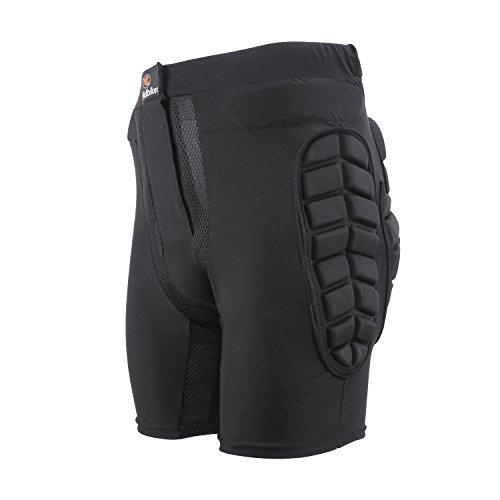"Ridibiker Bicycle Motorcycle Skiing Racing Armor Pads Hips Legs Protector Short Pants (L (35"" T0 38"" Waist)) Black"