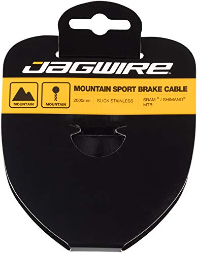 Jagwire–Cable de Freno para BTT–Sport Acero Inoxidable–1.5x 2000mm–SRAM/Shimano 94ss2000Unisex, Gris