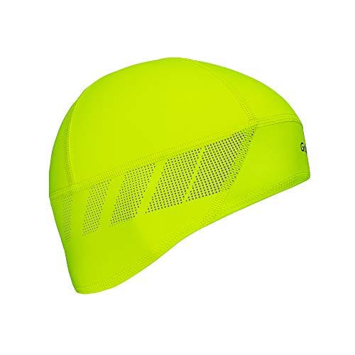 GripGrab Unisex Windproof Thermal Lightweight Hi-vis Skull Cap Radsport Mütze, Gelb Hi-Vis, M (57-60 cm)