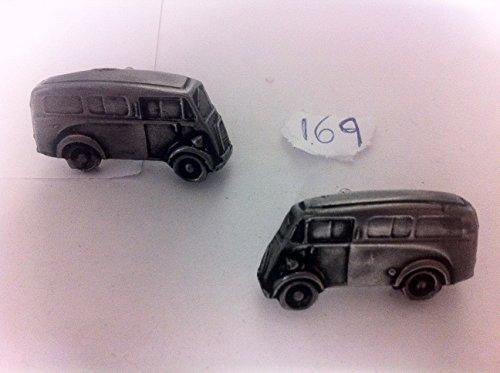 Morris van Type J (bureau de poste avec fenêtres latérales) 3D-Boutons de manchette homme-Classique-Bouton de manchette en étain effet ref169