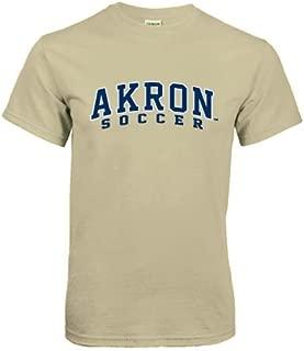 CollegeFanGear Akron Khaki Gold T Shirt 'Soccer'