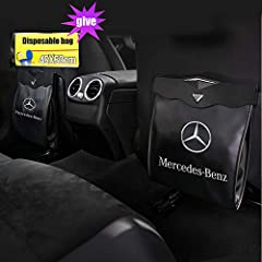 1. The Trash Can has been custom-cut specifically for Mercedes Benz .Magnetic automatic switch makes it easier to open and close. 2.Made from durable artificial leather,matched with the car leather seat,。Multifunctional : This Car trash can is not on...