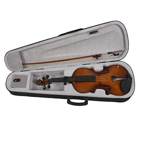 Katigan 4/4 Full Size Akustische Violine Geigenholz mit Fall Bogen Kolophonium Violine