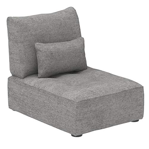 Marca Amazon -Alkove Elvas - Módulo uniplaza con almacenaje y cojín adicional para sofá modular, 70 x 100cm, gris