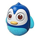 Erenhot Juguetes Bebe 6 Meses Más, Juguetes De Vaso De Penguin, Tumbler Toy Juguete Educativo Temprano Wobbler con Campana, para Niños Niñas