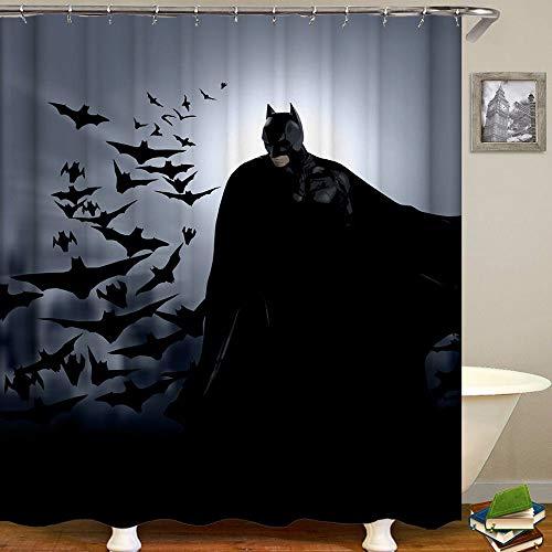 Aliyz Batman Home Hotel Badezimmer Dekoration wasserdicht mehltaue Umweltschutz pflegeleicht duschvorhang Polyester Stoff 71x71 Zoll