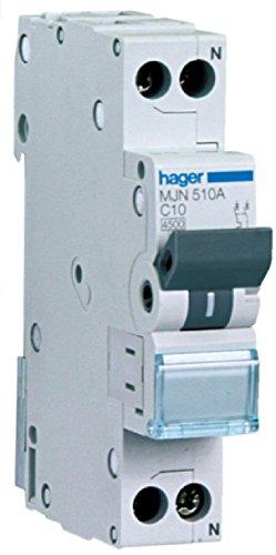 HAGER MJN516A INTERRUTTORE AUT. MAGNETOTERMICO 1P+N 1M 4, 5K 16A
