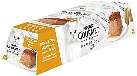 Purina Gourmet Revelations Comida húmeda para Gatos con Pollo 4 x 57 gr