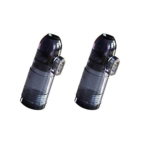 2 Stück Dosierer Portionierer sniff snuff bottle sniffer Spender Dispenser dispensers Batcher für Schnupftabak in schwarz