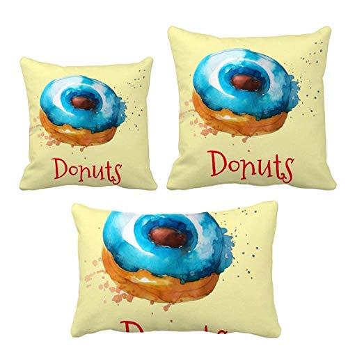 DIYthinker - Juego de almohadas para decoración de sofá o sofá, color azul