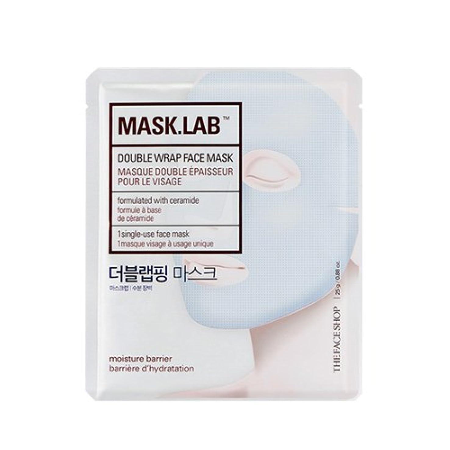 後方一時解雇する被害者THE FACE SHOP Mask Lab Double Wrap Face Mask 25g×5EA/ザフェイスショップ マスク ラボ ダブル ラップ フェイスマスク 25g×5枚