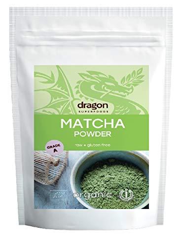 Dragon Superfoods Té Matcha Molido Ecológico (Categoría Ceremonial/A) - Vegano, Vegetariano, Paleo - Bolsa 100 gr