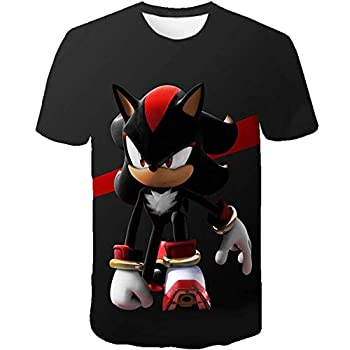 Red Shadow Sonic Clothes Girls 3D Funny T-Shirts Costume Children Spring Clothing Kids Tees Top Baby T Shirts  120