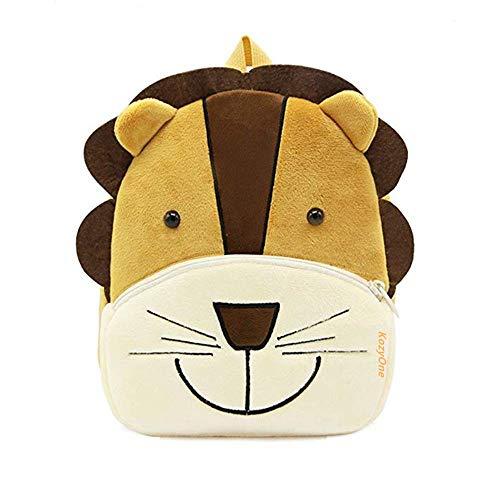 Cute Animal Cartoon Backpack School Bag, for Toddler Children Boys Girls, 2-5 Years Old, Perfect Gift for Kids, Children, Unisex (Lion)