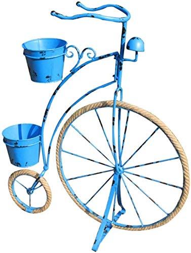 HXF- Fiore Stand Rustico Retro Ferro Biciclette Modeling Fiore Stand del Galleggiante antiquariato della Decorazione della Bicicletta Bar for Finestra personalità (Color : Blue)