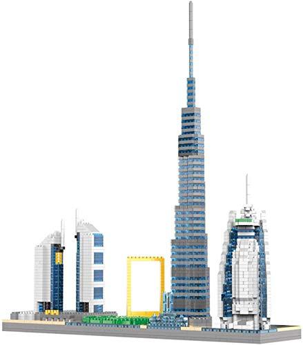 Dubai Tokyo Bloques De Construcción para Niños Edificios De Ladrillos Mini Tower Tower Tower Burj Khalifa Gran Regalo 1880PCS,Dubai