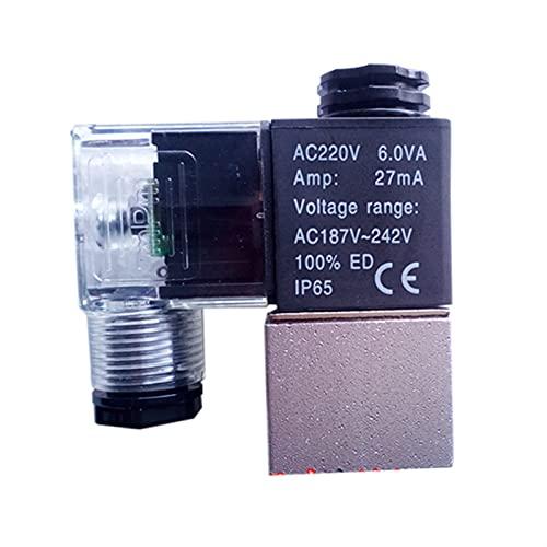 Válvula solenoide del compresor de aire de aceite de 1/8 pulgadas 220V 380V Válvula solenoide de alivio del descarga Normalmente claes ( Voltage : 380V , Wiring Control : With indicator light )