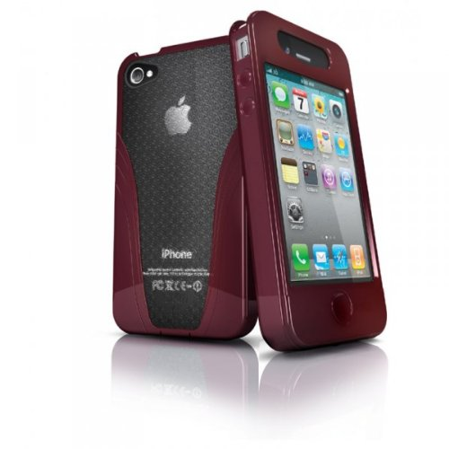 iSkin Solo V4-RD - Carcasa para Apple iPhone4, color rojo