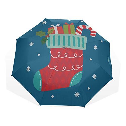 Reiseregenschirm Schöne Schöne Schöne Socken Anti Uv Compact 3 Falten Kunst Leichte Faltbare Regenschirme (Außendruck) Winddicht Regen Sonnenschutz Regenschirme Für Frauen Mädchen Kinder