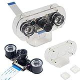 HiLetgo Raspberry Pi Camera 5MP OV5647 可変焦点Webカメラナイトビジョンカメラモジュールビデオ1080P ケース付き