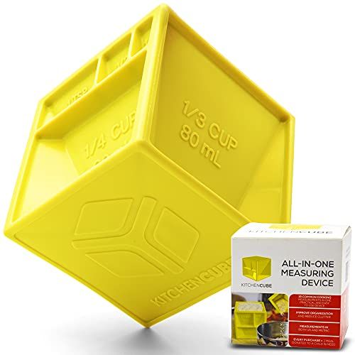 KITCHEN CUBE   NEW All-in-One Measuring Cup to Improve Organization and Reduce Clutter   Premium...