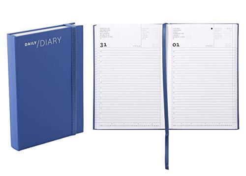 Agenda 2020 giornaliera, formato 11 × 16,5 cm colore blue
