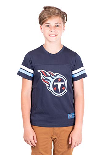 Ultra Game NFL Tennessee Titans Youth Mesh Vintage Jersey Tee Shirt , Team Color, Large