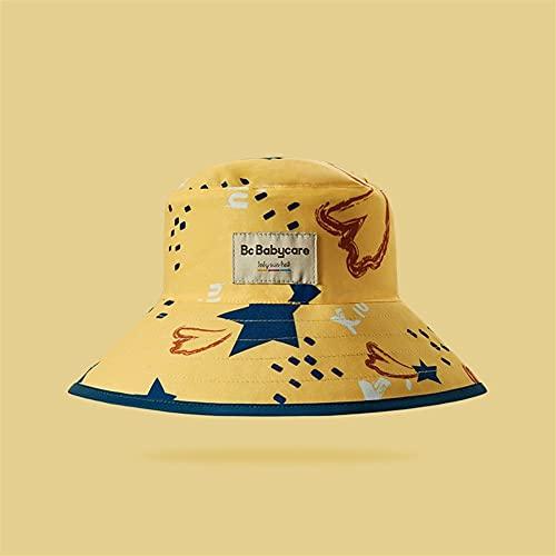 yuanyuanliu Sombrero, Tapa De Protector Solar Infantil, Sección Delgada Pescador Sombrero, Hombres Y Niñas, Sol, Primavera, Verano (Color : B, Size : 45-50cm)