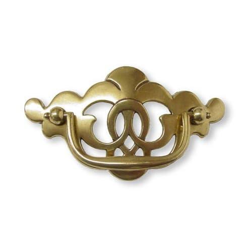 Vintage Style ~ Brass ~ Antiqued ~ Drawer Pull ~ Faux Key Hole ~ Hardware Fine Craftsmanship Antiques