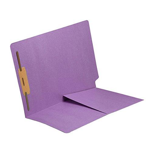 11 pt Lavender Folders, Full Cut End Tab, Letter Size, 1/2 Pocket Inside Front, Fastener Pos #1 (Box of 50)