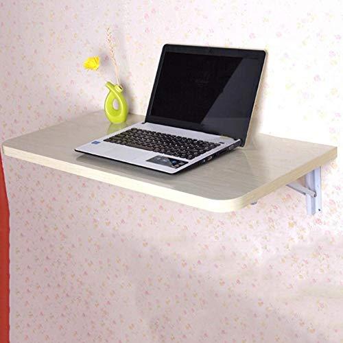 YANGFH Mesa Plegable de Pared Mesa de Trabajo portátil portátil con Hojas abatibles Estación de Trabajo Mesas a Base de Madera, 4 Colores, 3 tamaños Mesa Plegable (Color : C, Size : 50x30CM)