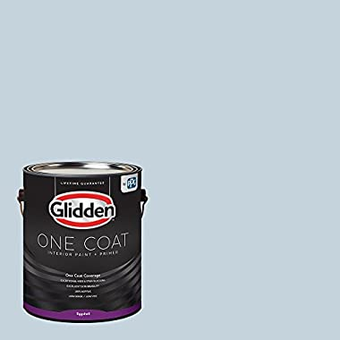 Glidden Interior Paint + Primer: Blue/Sentimental Lady, One Coat, Eggshell, 1-Gallon
