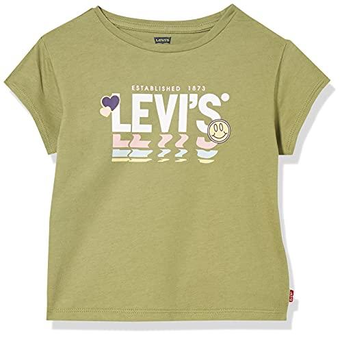 Levi's kids LvgDrop ShoulderteeShirt Tnica, Loden Greene, 10 años Niñas