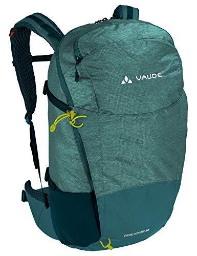 VAUDE Rucksaecke20-29l Prokyon Zip 28, Geräumiger Wander- und Outdoorrucksack, nickel green, Einheitsgröße, 141379840