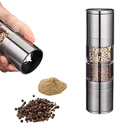 NWYJR Salt and Pepper Mill Grinder Shaker Set, Salt and Pepper Shakers with Acrylic Visible Window Salt and Pepper Mill Set