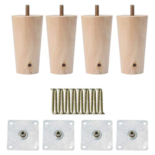 3 pollici rotondo in legno massello gambe mobili divano sedia tavolo scrivania armadio piedi sostituzione set di 4