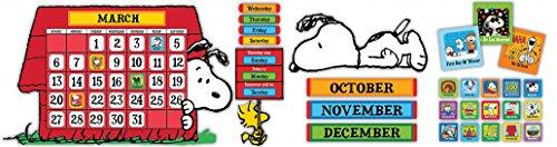 Eureka Peanuts and Snoopy Classroom Calendar for Teachers, 0.1'' x 18'' x 28'', 112pc, Model:847152