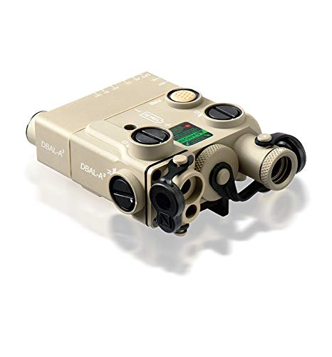 Steiner eOptics DBAL-A3 Dual Beam Aiming Laser Advanced General-Purpose Multi-Function Laser Sight with Visible and IR Beams and Infrared LED Illuminator, Green Laser, Desert Sand