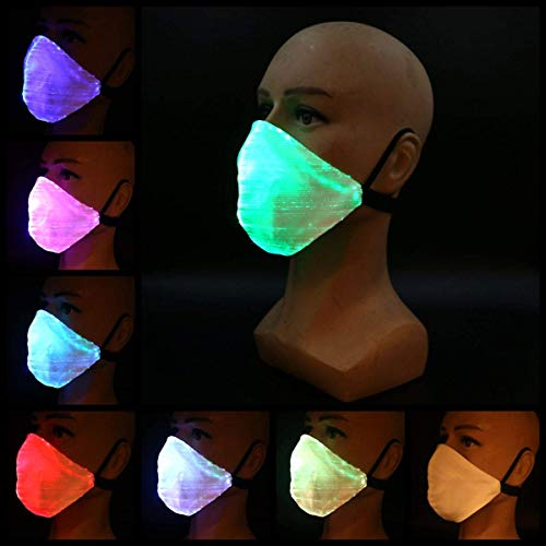 LED Light Up Mask, 7 kleuren Luminous Glowing Maskers, IP67 Waterproof Flashing Rave Fiber Masker for Gift van de Partij van Halloween Kerstmis ZHANGKANG