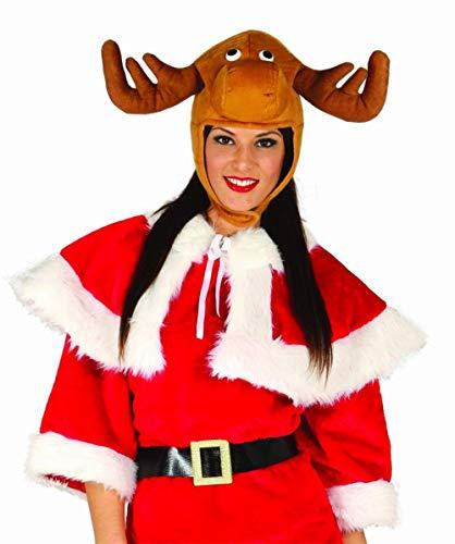Guirca Cappello peluche renna Babbo Natale uomo donna adulto 42194