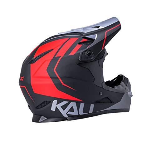 Kali Zoka 2020 - Casco Integrale, Nero, Rosso, Grigio, M