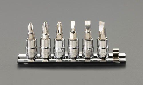 ESCO エスコ 1/4sq(+)(-)ビットソケットセット EA687AM